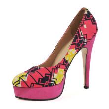 African Printed Fabrics Women High Heel Shoes (HCY02-1753)