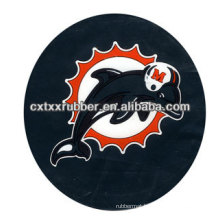 round rubber coaster,rubber backed coaster