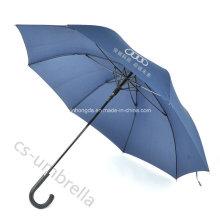 """23 """"Schwarz Fiberglas Pongee Stoff Werbung Regenschirm für Promotion (YSS0123)"""