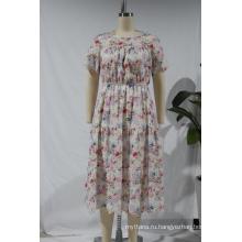 Женское идиллическое платье с короткими рукавами