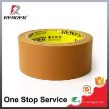 Free Sample Brown Easy Tear Stripe PVC Tape Packaging Tape