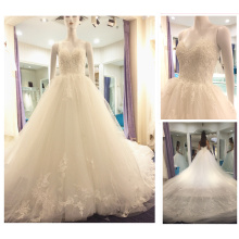 Guangzhou Wedding Dress Factory Sweetheart Lace Appliqued Puffy Princess Ball Gown Wedding Dresses Bridal Gown 2016 A234
