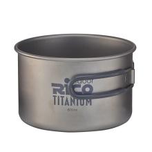 Olla de Camping de titanio de alta calidad 800ml