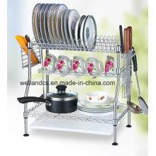 DIY Chrome Iron Kitchen Unique Dish Rack (CJ-C1136)