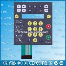 Clavier à membrane imperméable personnalisé avec circuit flexible