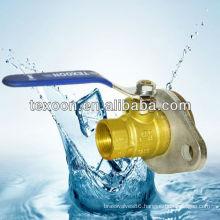 Flange 2-pcas full port brass ball valve NF1
