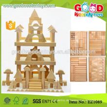 180pcs runde Ecken Unvollendetes natürliches Holz scherzt große Blöcke