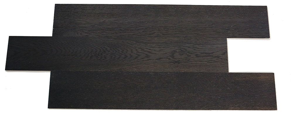 Carbon black European oak solid wood composite SPC flooring
