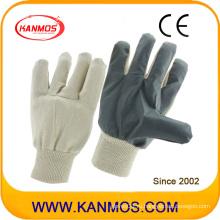 Белые серые виниловые защитные хлопковые рабочие перчатки (41018)