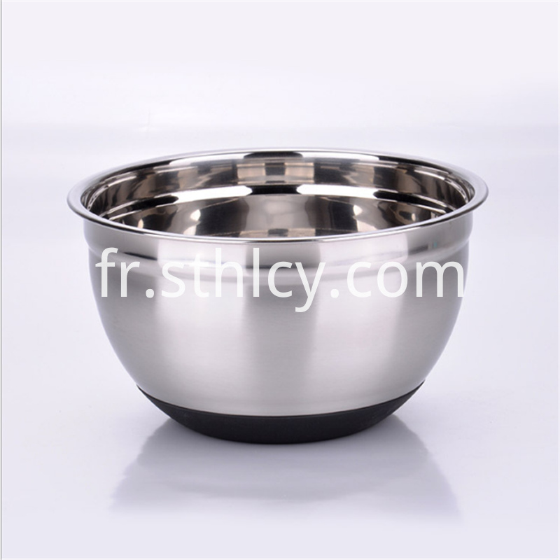 Stainless steel egg bowl, non-slip black