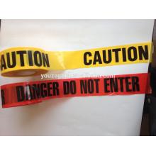 Cinta de advertencia PE sin pegamento