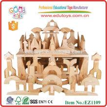Stocké 200pcs de haute qualité en caoutchouc bois standard unité blocs ensemble