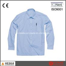 Один карман длинный рукав офиса формальной рубашки