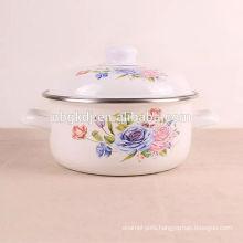 china supplier custom logo black color custom enamel pot  china supplier custom logo black color custom enamel pot