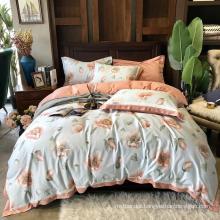 Wholesale Best Quality Bedding Set Cotton Brushed Fabric Soft for Single Bed Sheet Set
