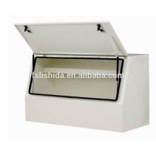 Weißer Hochleistungs-Edelstahl-LKW-Werkzeugkasten aus Durabel. Weißer Hochleistungs-Edelstahl-LKW-Werkzeugkasten aus Edelstahl
