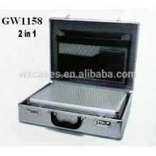 nuevo diseño 2 en 1 maletín de aluminio de alta calidad de China fábrica