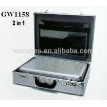 new design 2 in 1 aluminum briefcase from China factory high quality