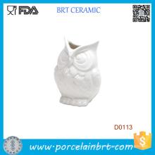 Nouveau Blanc Abbott Owel Vase en céramique