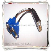 Câbles diviseur DVI 59 PIN À 2 SPLITTER FEMELLE DUAL VGA