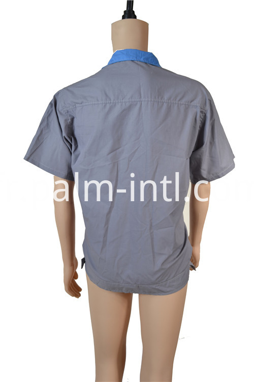 Polyester Cotton Grey Short Sleeve