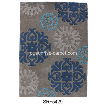 Tapete de Design Floral Hand-tufted