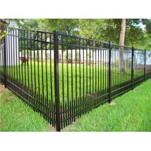 Black Color Steel Picket Fence Panel / Aluminum Fence