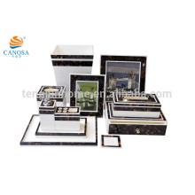 eleven pieces sets of brown color pen shell bathroom set
