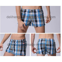 100% хлопчатобумажная пряжа окрашенная мужская пляжная короткая ткань