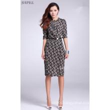 Chiffon Material Floral Printed Dress for Ladies Elegante