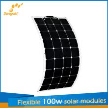 Novos Painéis Solares Flexíveis Projetados 100W para Fabricantes de China