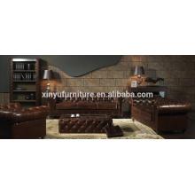 Conjunto de sofá chesterfield estilo americano A631