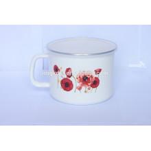 3pcs enamel milk pot set with PP lid