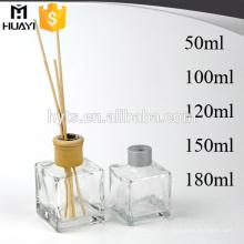 Bouteille de diffuseur de reed d'arome de verre de parfum CHAUDE pour le rafraîchissement de l'air