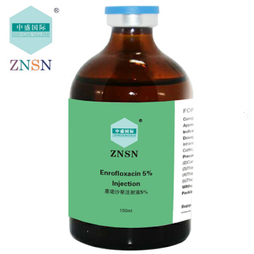 ZNSN Enrofloxacin 5% 10% 20% injection
