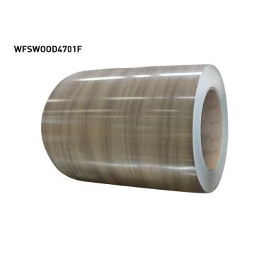 Bobinas de metal pré-revestidas de madeira