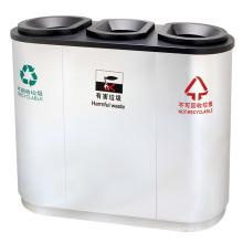 Cubo de basura respetuoso del medio ambiente al aire libre del acero inoxidable (DL16)