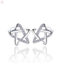 925 Sterling Silver Big Star Earrings Stud Jewelry
