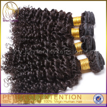 Wholesale Stock Machine Made Synthetic Hair Wet Wavy Dip-dye-remy-hair-weave