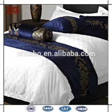 Luxury Elegant Wholesale Cheap 100% Polyester Hotel King Size Bed Scarves