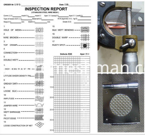 inspect report of wire mesh