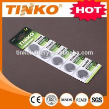 Pila de botón de manganeso de litio CR2032/CR2025/CR2016