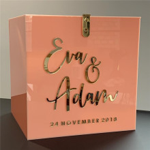 Personalized Acrylic Wedding Card Box