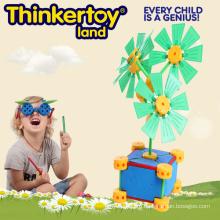 Популярная пластиковая обучающая игрушка строительного блока для детей