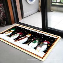 Snowman Pattern Holiday Mat