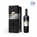 2018 Venta caliente cajas de embalaje de vino de cartón negro de gama alta al por mayor