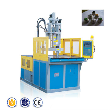 Plastic injection moulding machine with rotary