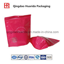 Stand up Coffee Packaging Bag with Zipper and Bottom Gusset