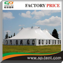 18X24M Premier High peak pole tent with galvanized steel poles and white top and windows sidewalls
