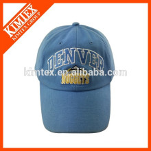 embroidery pattern style blue custom curved baseball cap